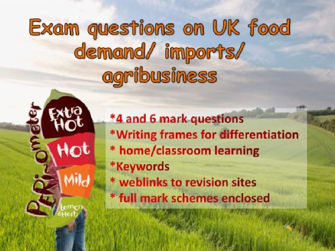 UK demand for food & agribusiness