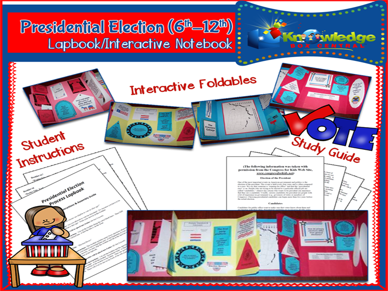 Presidential Election Process Lapbook (6-12th)