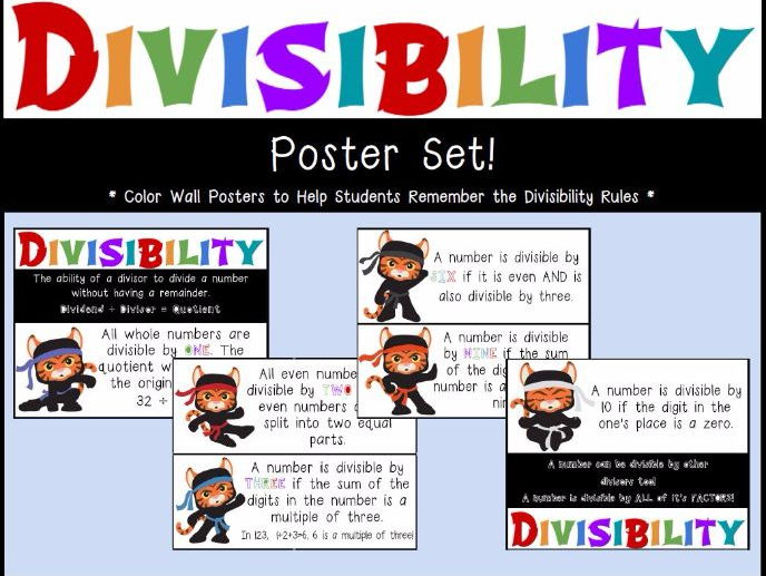 Divisibility Poster Set