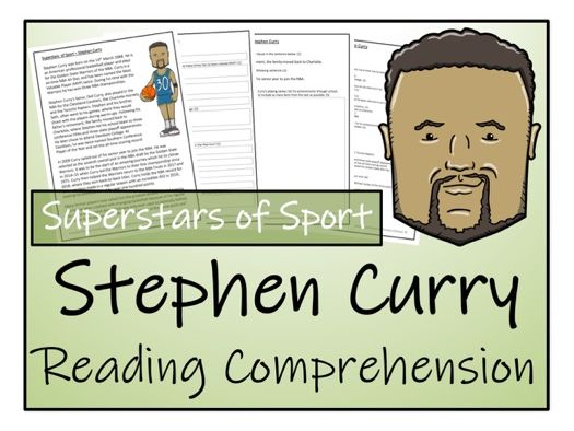 UKS2 Literacy - Stephen Curry Reading Comprehension Activity