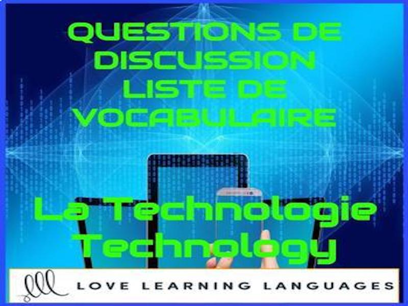 Advanced French conversation questions - La technologie