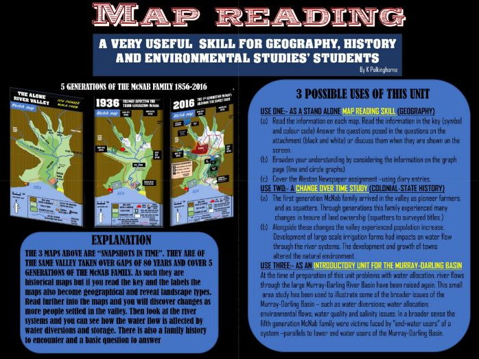 MAP READING - A USEFUL SKILL FOR GEOGRAPHY - HISTORY AND ENVIRONMENTAL STUDIES