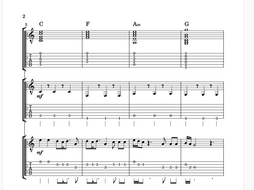 Shotgun - Guitar Ensemble Full Score (3 Part)