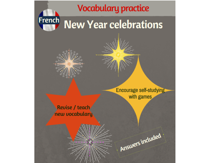 Practice French vocabulary associated with the New Year celebrations