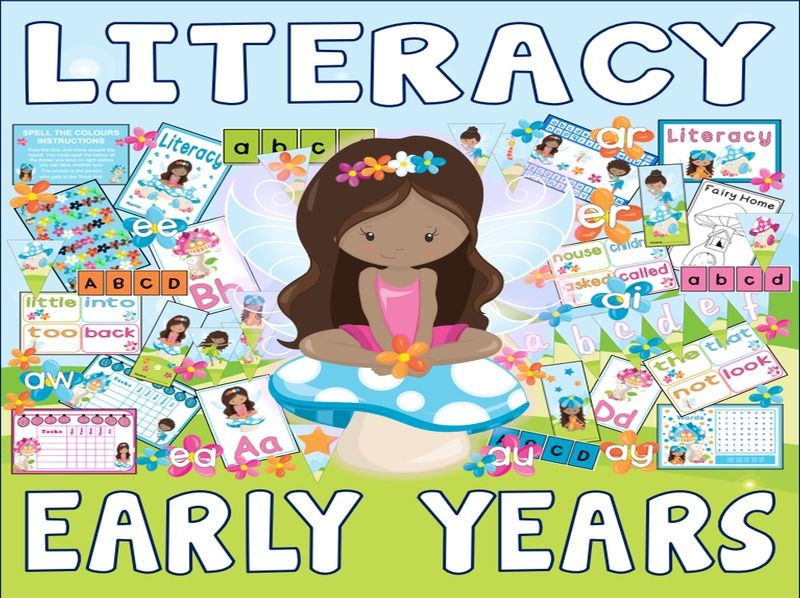 EARLY YEARS LITERACY PACK TEACHING RESOURCES ENGLISH ALPHABET PHONICS FAIRIES FAIRY THEME
