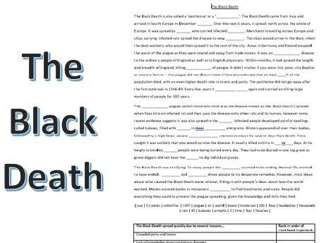 Black Death: gap fill and ranking activity