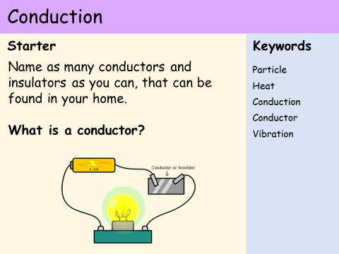 KS3 Heat and Energy - Lesson 3 - Conduction