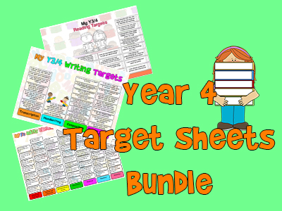 Child Friendly Year 4 Targets Sheets Bundle