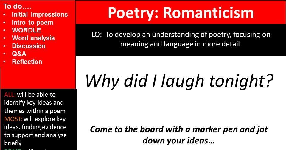 Romantics Poetry