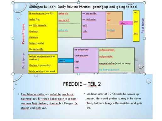 Routine, speaking practice, separable verbs
