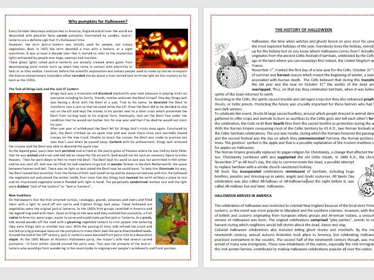 Halloween Worksheets Bundle