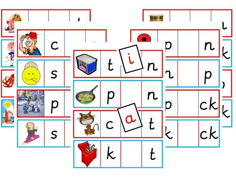 Missing Medial Vowels - s a t p i n c k