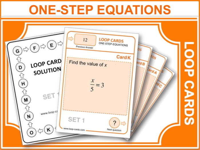 One-Step Equations (Loop Cards)