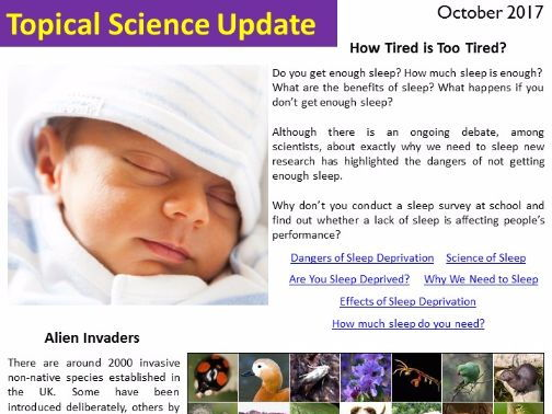 Topical Science Update - October 2017