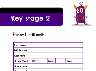 Silly SATs Maths Paper 1: Arithmetic (Set A)