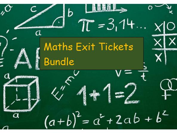 Maths Exit Ticket Bundle