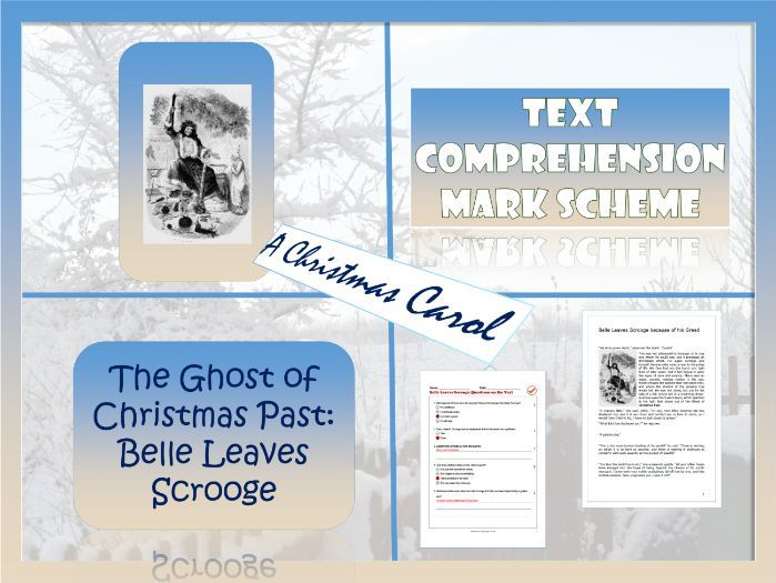 A Christmas Carol.  The Ghost of Christmas Past. Reading Comprehension .