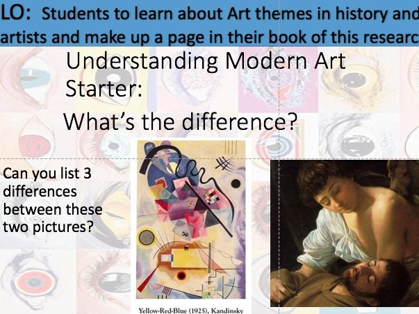 Modern movements project  1 - looking at different historical themes in Art: What is Modern Art?