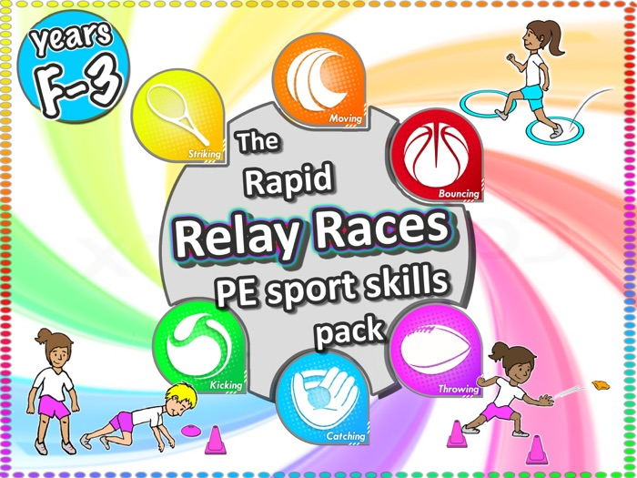 PE Sport Relay Race activities: The rapid Relay Races PE Sport pack- Years F-3