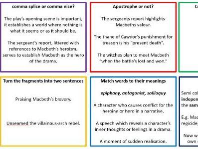 Macbeth SPaG Activities