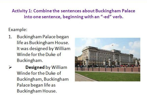 Varying Sentences with the Past Participle