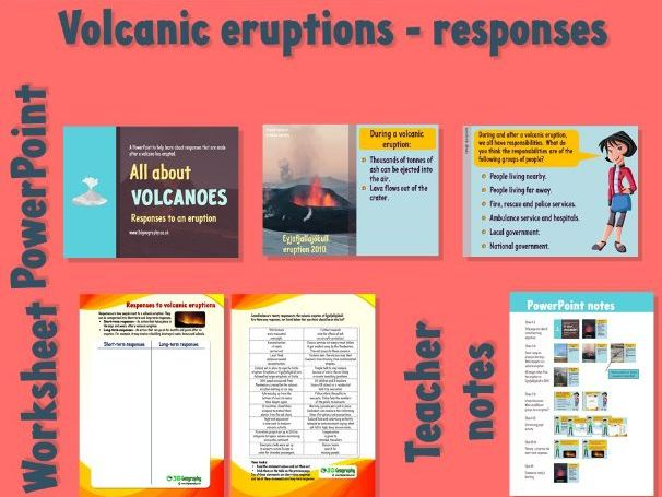 Volcanoes - Responses to an eruption (Complete lesson)