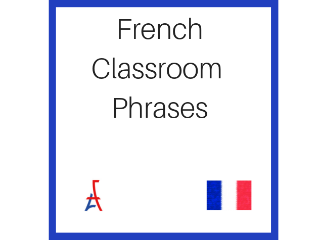 Free French Classroom Phrases