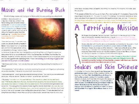 Old Testament Stories: Moses and the Burning Bush: Differentiated Information and Activities