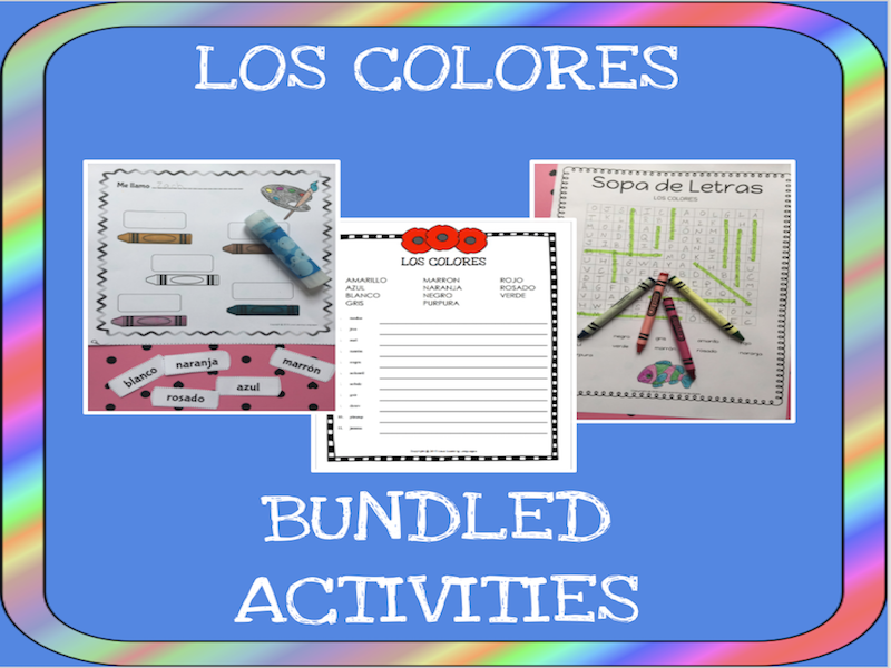 Spanish colors bundle - Los colores