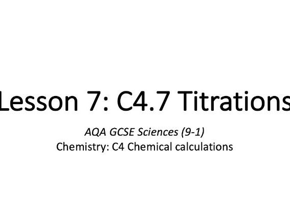C4.7 Titrations