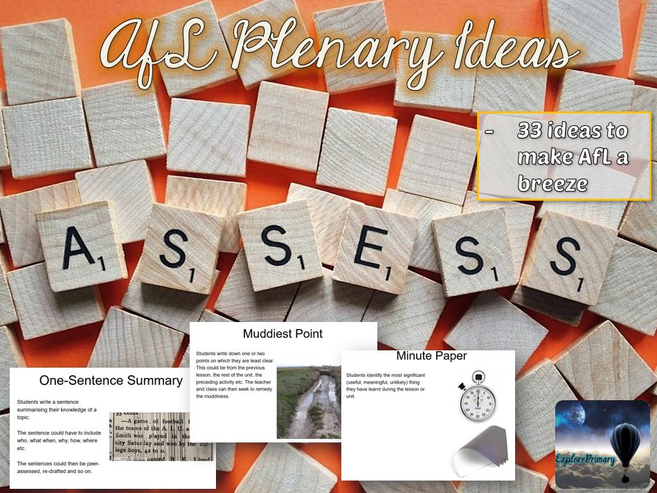 33 Assessment for Learning Plenary Ideas