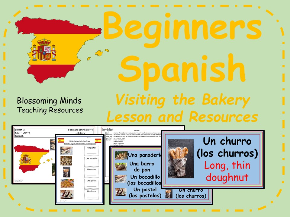 Spanish lesson and resources - KS2 - The bakery
