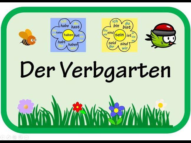 German Verb Garden Display - Ready To Print!