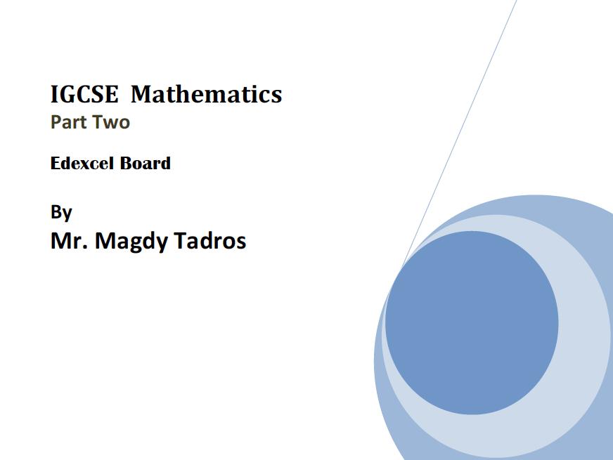 IGCSE-GCSE Maths Edexcel-CIE-OL-Book Part 2