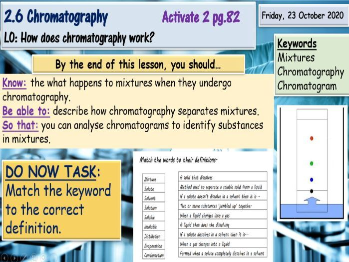 Chromatography KS3 Science