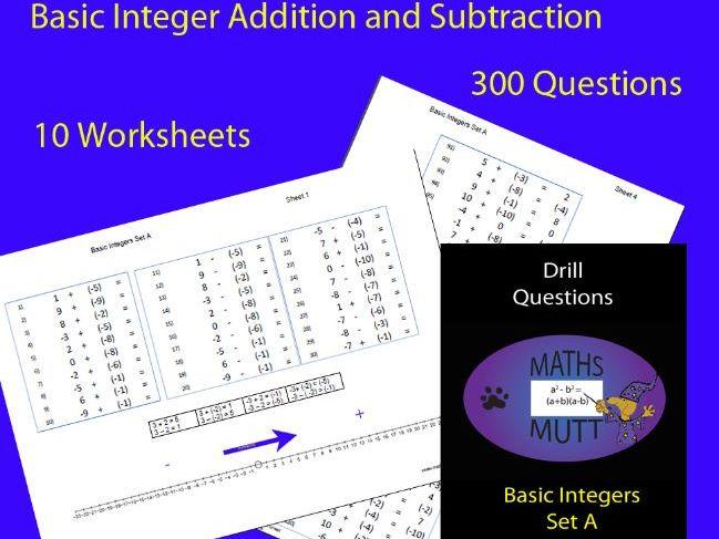 Drill Questions: Basic Integers Set A