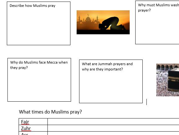 GCSE Religious Studies Edexcel B Living the Muslim Life revision workbooks