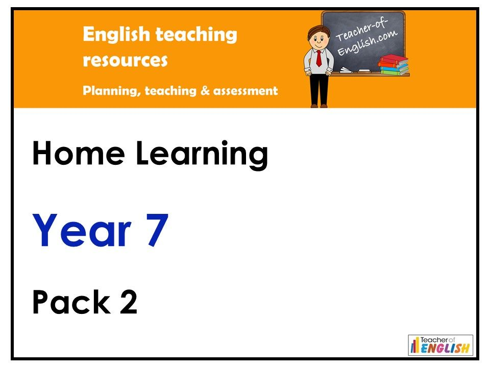 Year 7 English - Home Learning Pack 2
