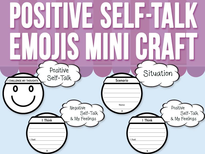 Positive Self-Talk - Emojis Mini Craft