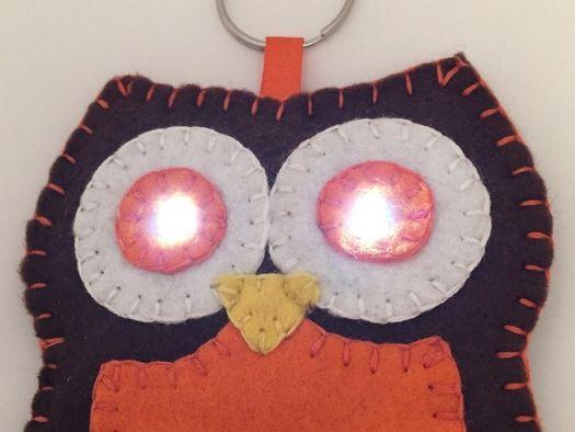 E-textiles Owl Fabric Torch