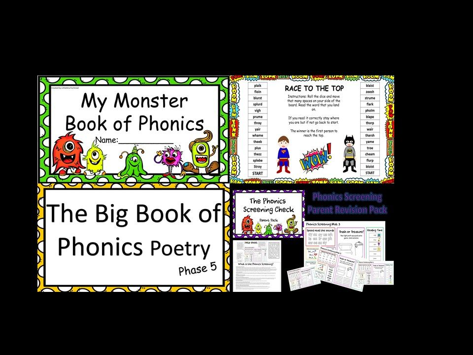 Mega Phonics Screening Check Revision Bundle