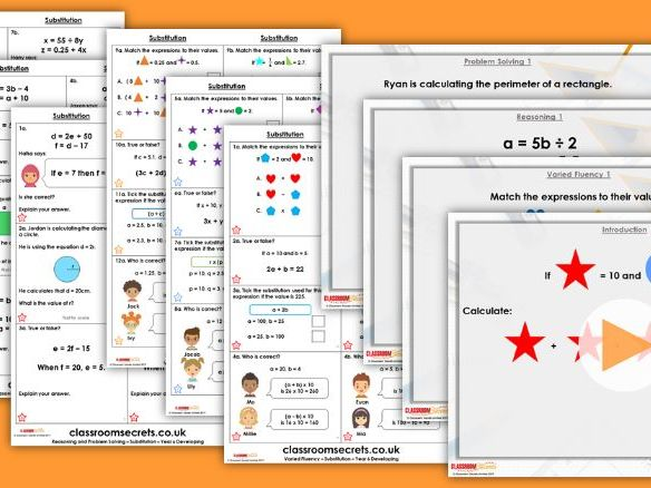 Year 6 Substitution Spring Block 3 Step 4 Lesson Pack