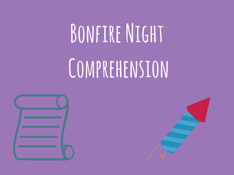 Bonfire Night Comprehension - ESL/ESL/EAL/EFL/Literacy/ALD