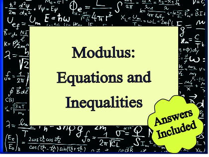 Modulus Algebra - over 30 questions with answers