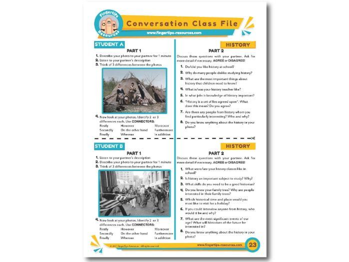 History - ESL Conversation Activity
