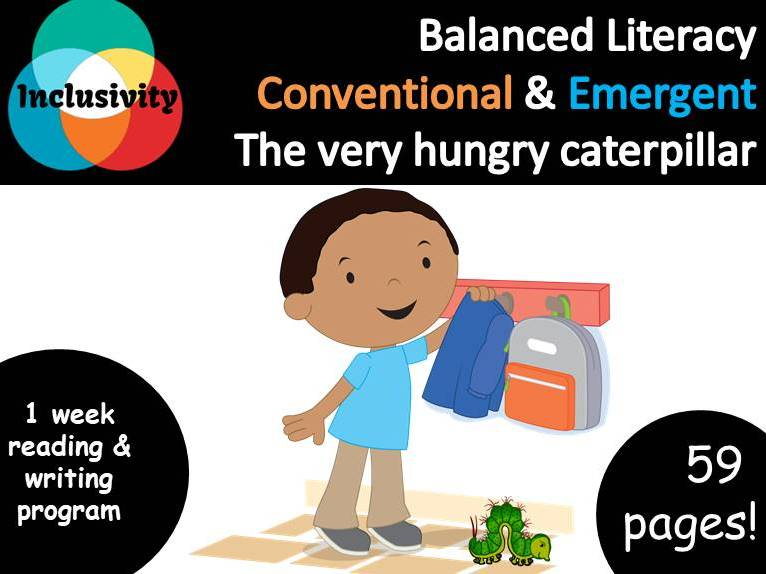 Balanced Literacy for special needs The very hungry caterpillar Emergent & Conventional