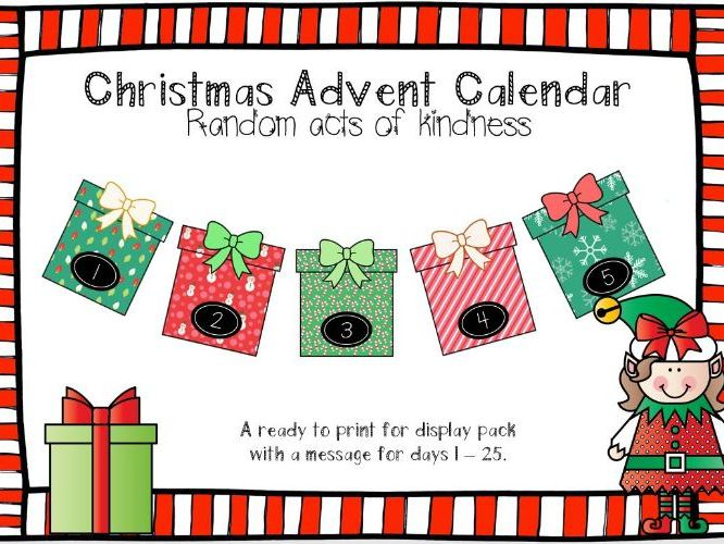 Christmas 'Acts of Kindness' Advent Calendar Display Pack