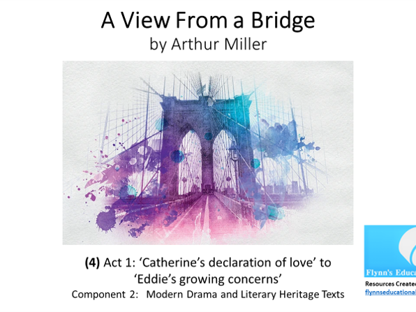GCSE Literature: (4) 'A View from a Bridge' – Act 1 (4 of 7) 'Catherine's declaration of love'