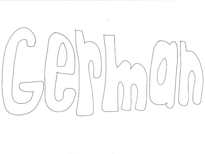 German: Countries and Languages Colouring Page