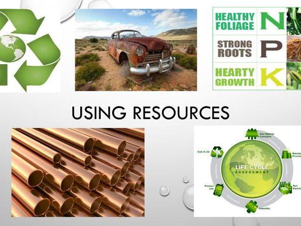 AQA Chemistry GCSE C10 - Using resources